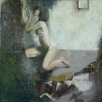 石本秀雄賞 藤井佳奈(西洋画3年)「ぬくもりをさがす」
