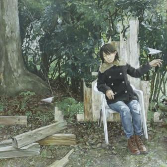美術協会賞洋画部門 松本凌介(西洋画2年)「旅の理由」