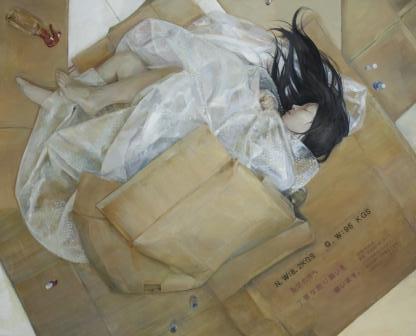 佳作賞西洋画部門 福田幸恵(西洋画2年)「kajiyouhousou」